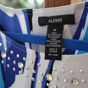 Alfani Tops - Blue & White (M) Alfani blousy top